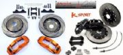 K-Sport Rear Brake Kit 4 Pot  330mm Discs Subaru Impreza GC8 STI 97-02